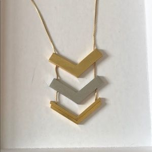 Madewell adjustable arrows necklace